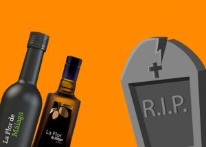 decorar botellas para halloween