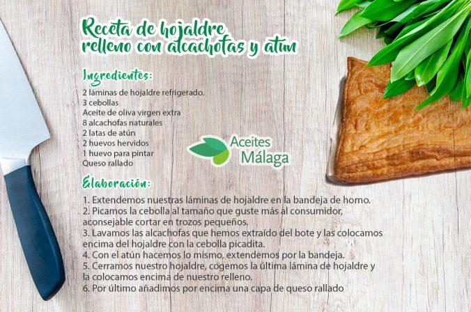 Receta de hojaldre relleno de alcachofas